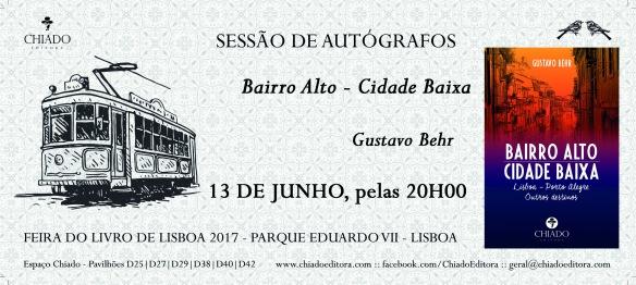 Convite - Bairro Alto Cidade Baixa - Gustavo Behr - Feira do Livro 2017